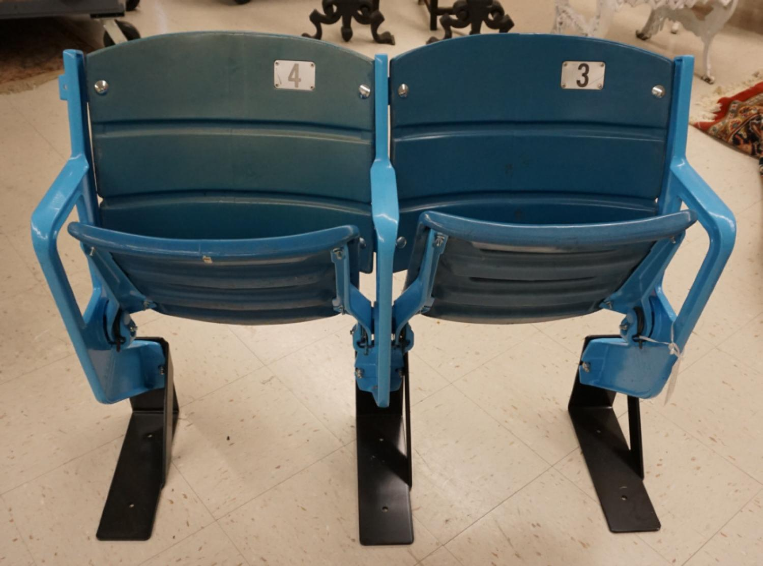 Authentic vintage commemorative Yankee Stadium double seat
