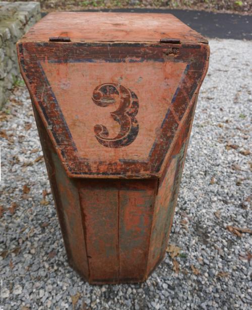 Antique painted pine grain box c1870