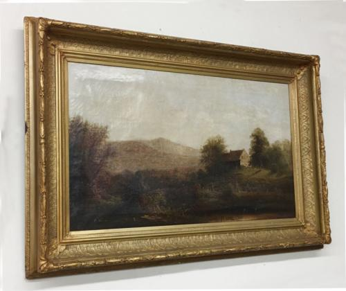 R Rohenhouse Hudson River Valley oil painting NY 1887