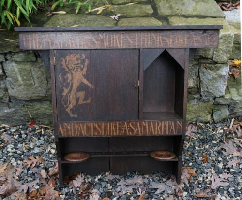 English Arts and Crafts Liberty Raleigh smokers cabinet c1890
