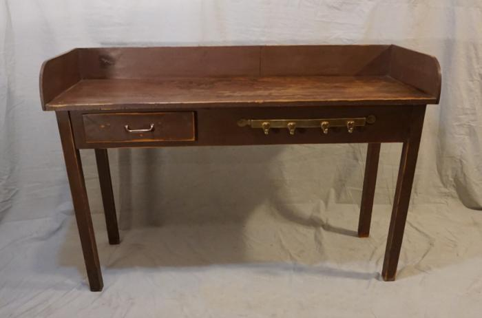 Antique country pine kitchen work table c1900