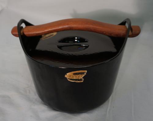 Rosenlew Finland 1959 black enamel casserole