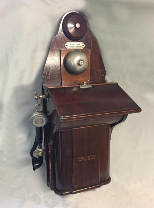 Vintage Sweedish Jydsk crank wall phone c1920