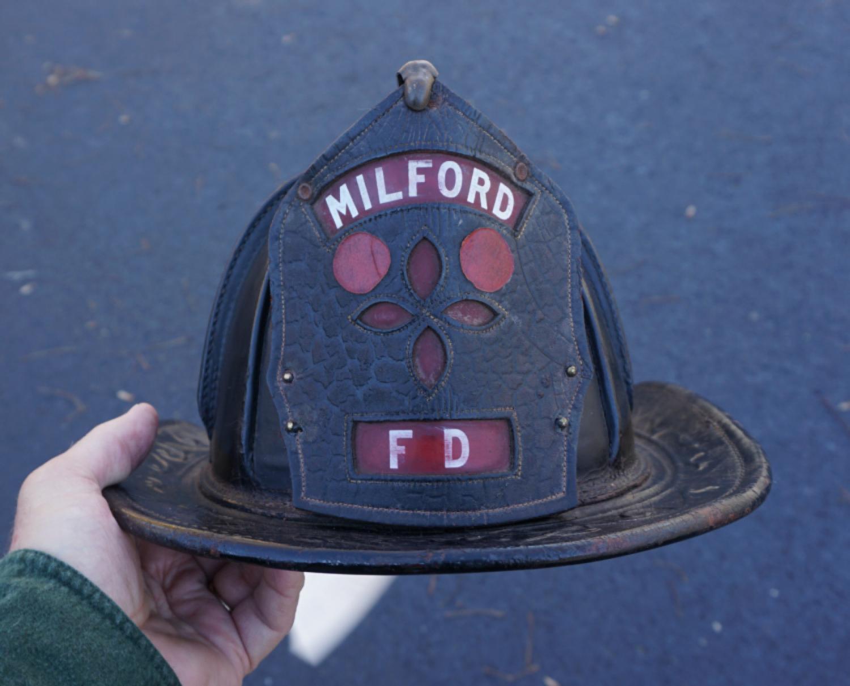 Vintage Milford Fire Department firemans hat