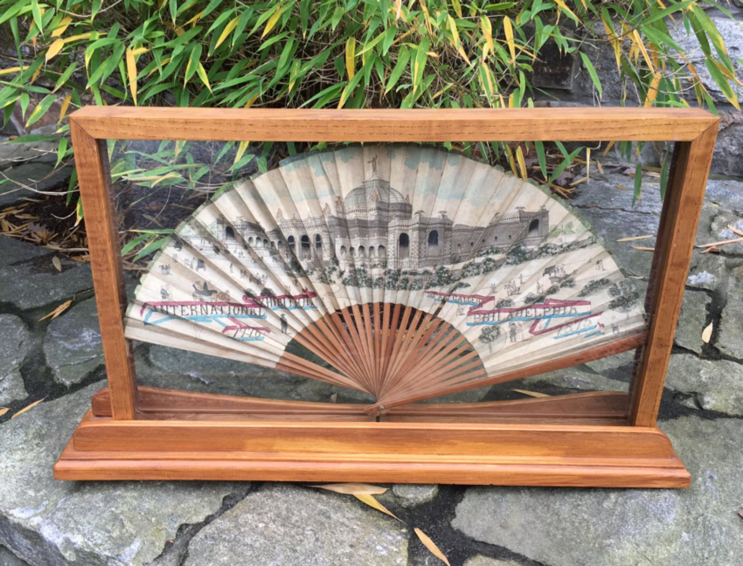 International Exhibition Philadelphia 1876 commemorative fan