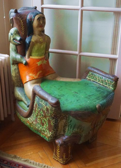 20thc outsider folk art chair