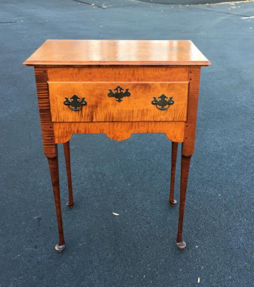 Vintage Eldred Wheeler tiger maple table