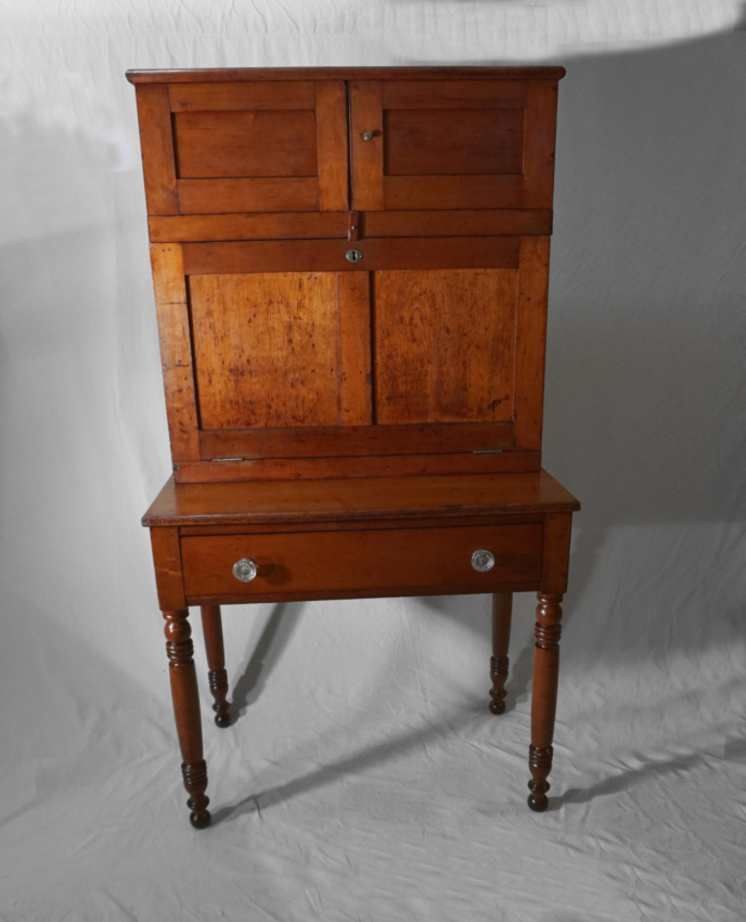 Early American cherry paymasters desk c1830
