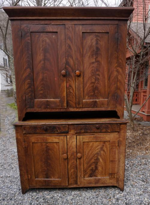 Early Pennsylvania step back cupboard in original paint
