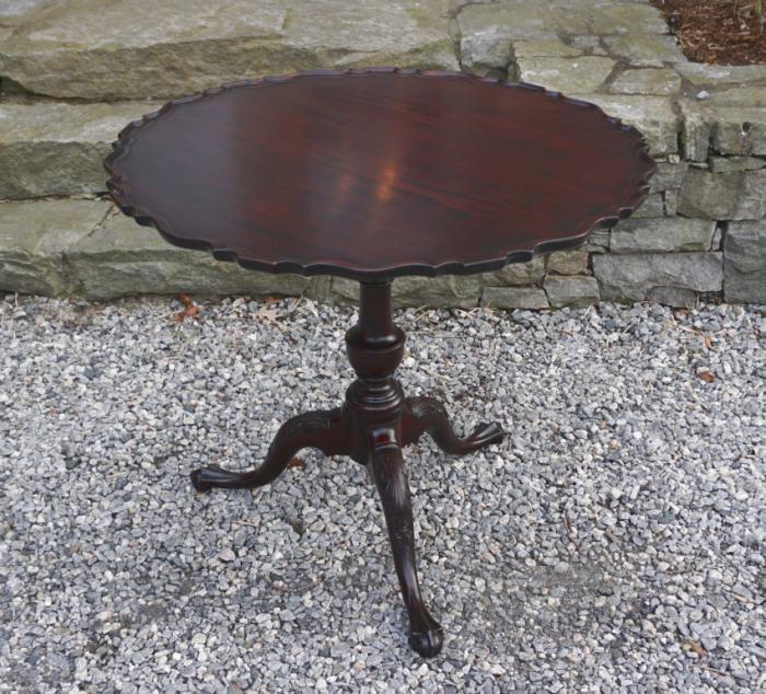 Chippendale style tilt top tea table