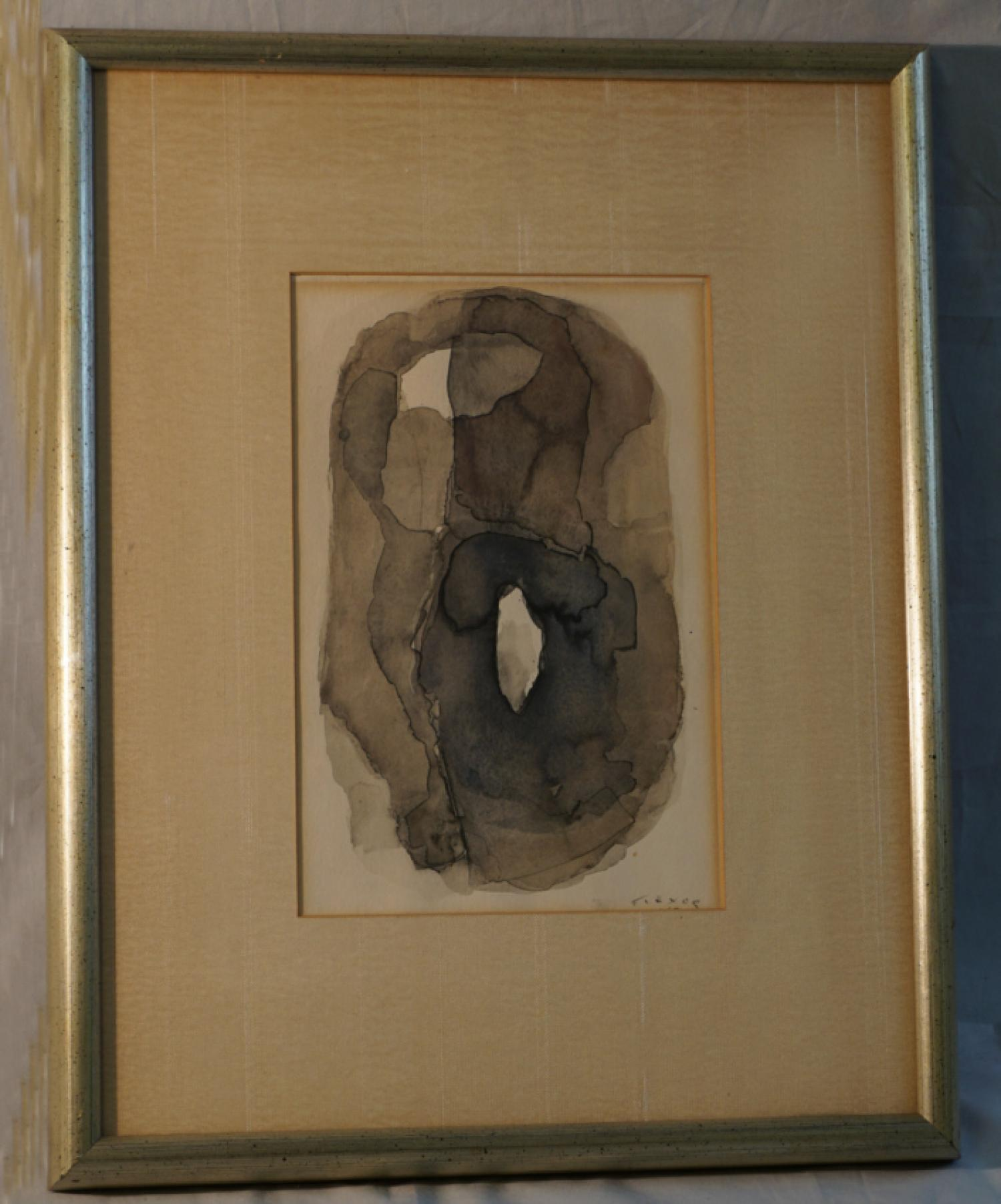 Samson Flexor abstract watercolor Brazil c1955