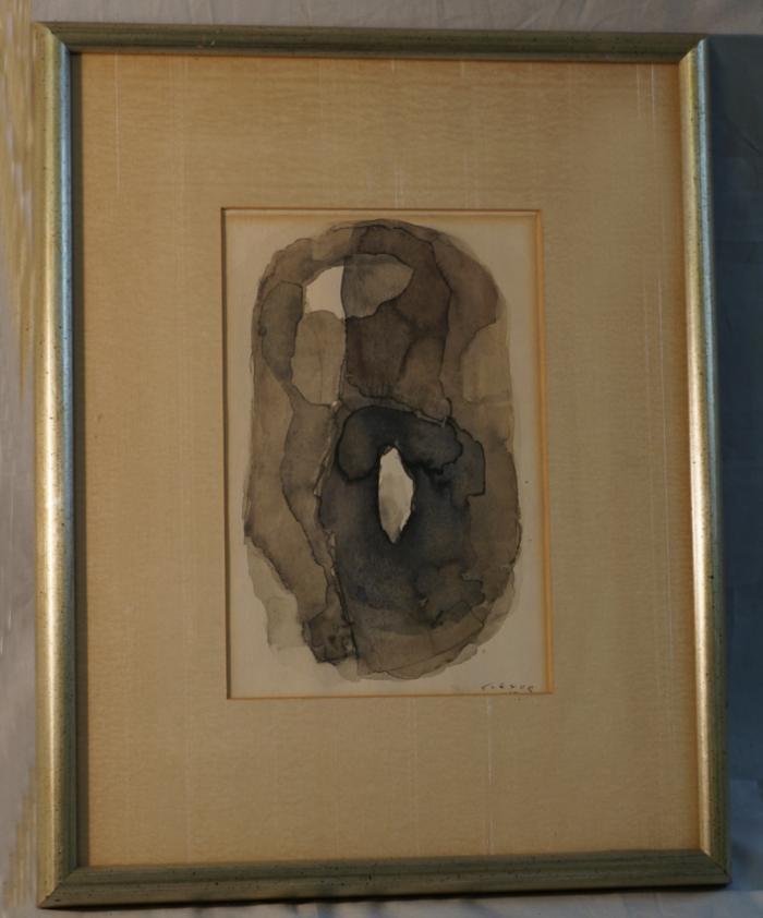 Jew Detector: Samson Flexor Abstract Watercolor Brazil C1955