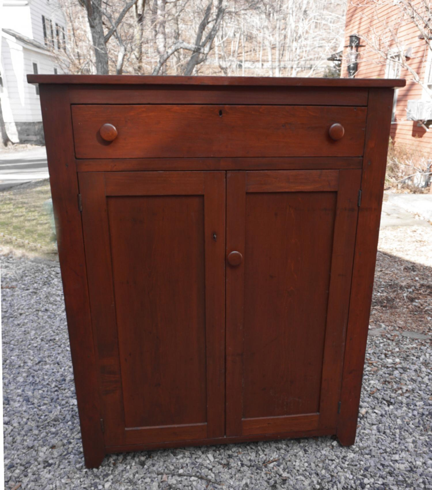 Early country pine country kitchen jelly cupboard c1840