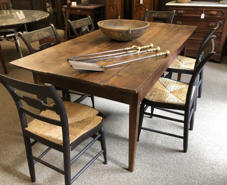 Antique New England cherry farmhouse table c1800