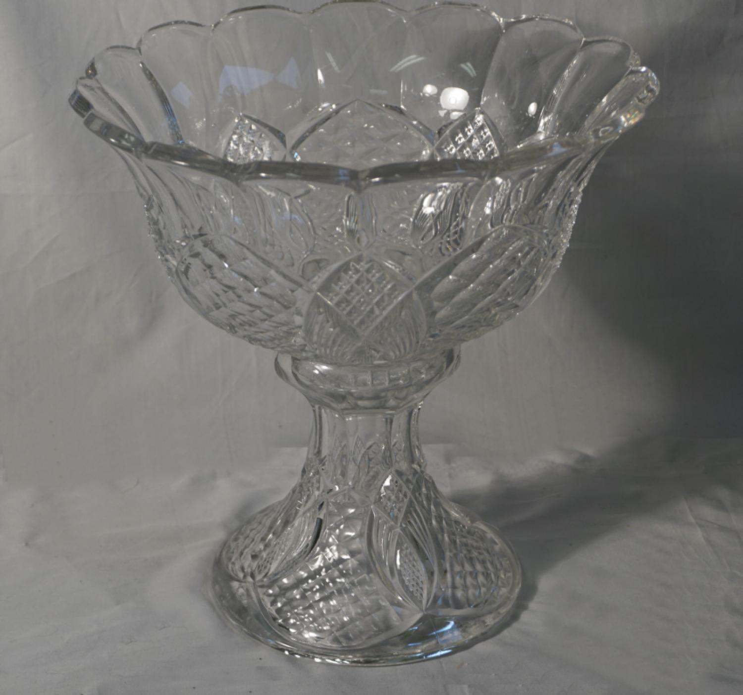 Antique American pattern glass compote c1880