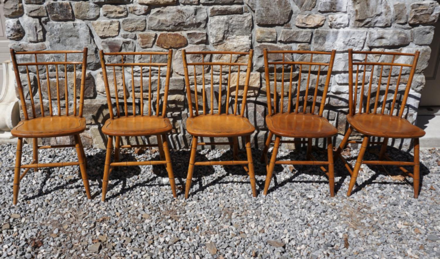 Hitchcock birdcage Windsor chairs set of 5