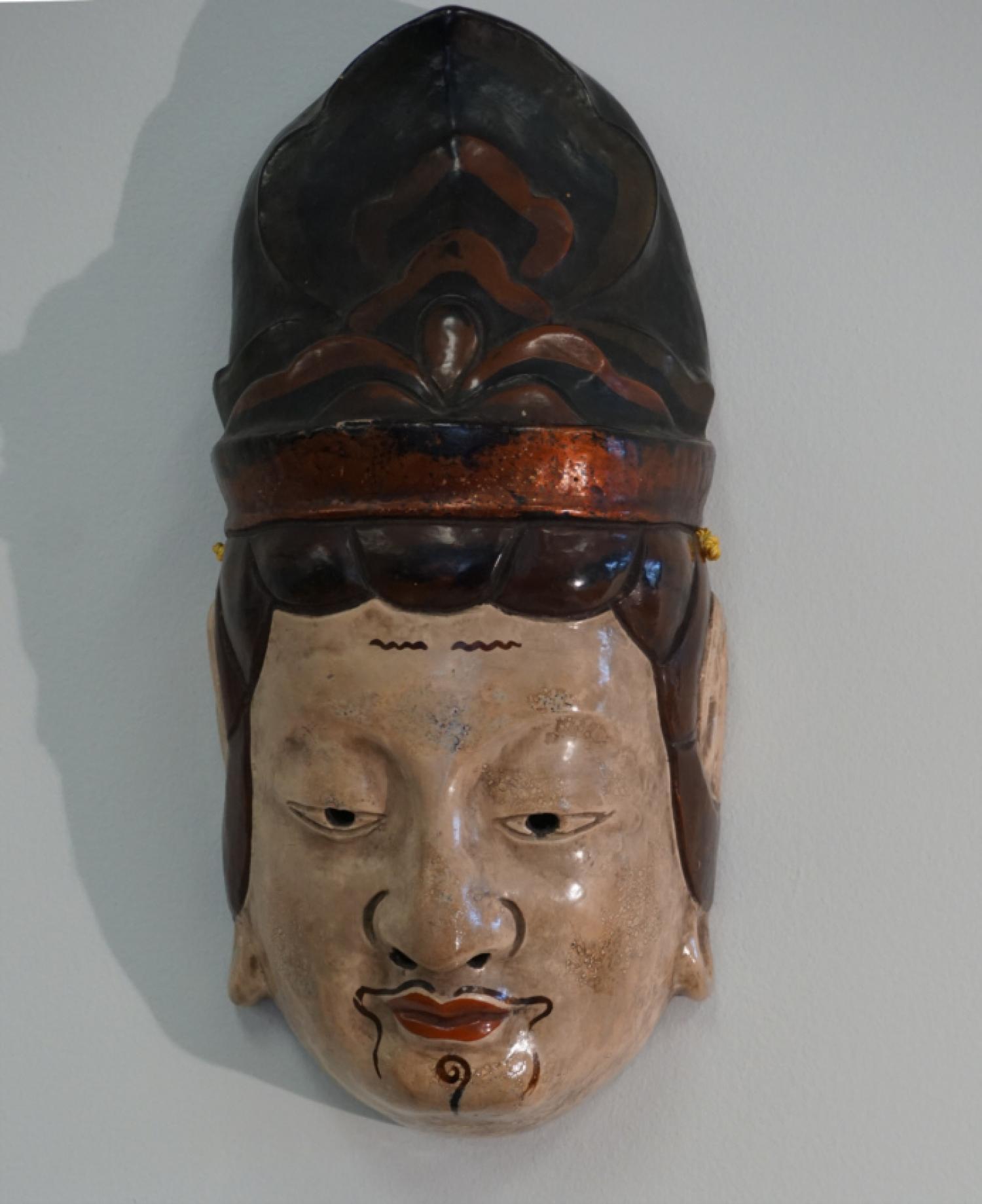 Japanese Meiji period ceremonial noh mask c1860