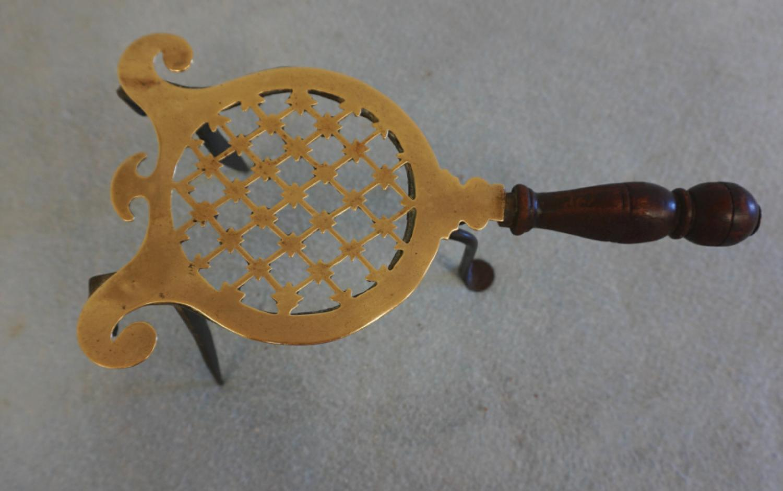 18thc English brass and iron trivet