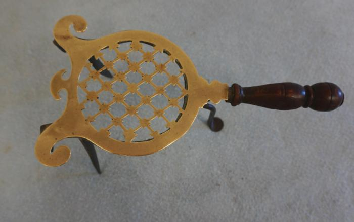 18thc English brass and iron trivet