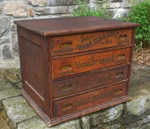Frank Tea and Spice Co country store display chest