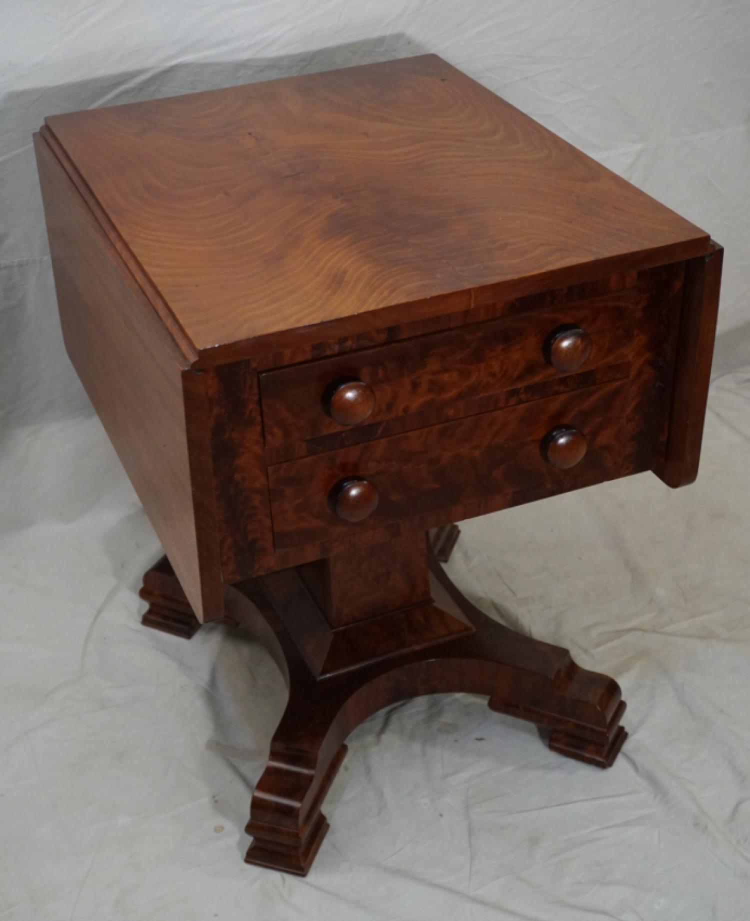 Federal Empire mahogany work stand c1830