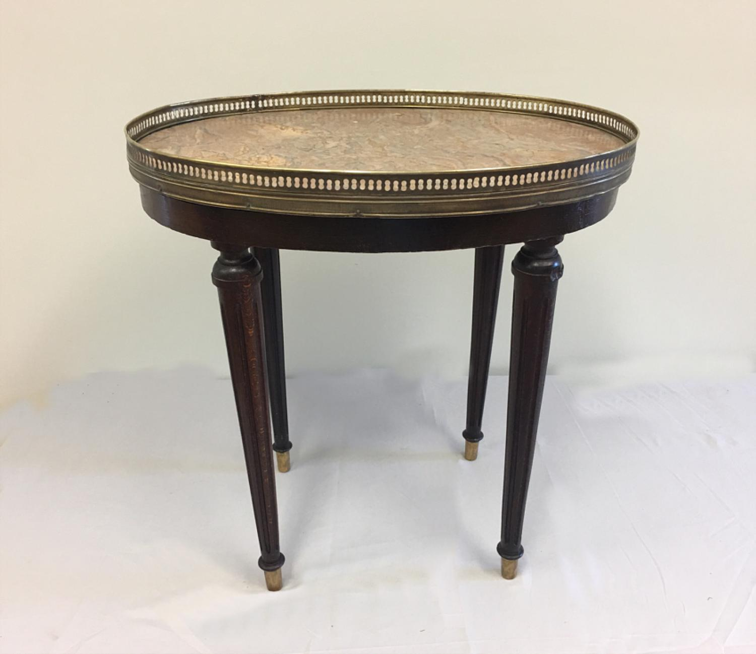 Louix XVI style marble top occasional table