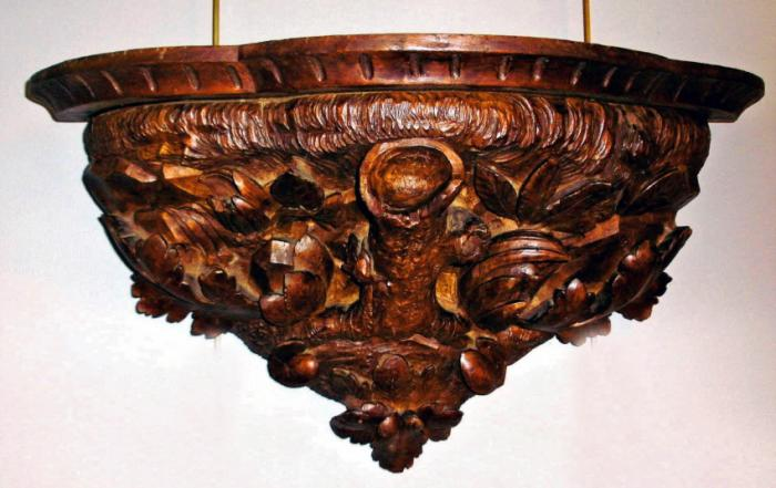 Black Forest style wall bracket  c1860