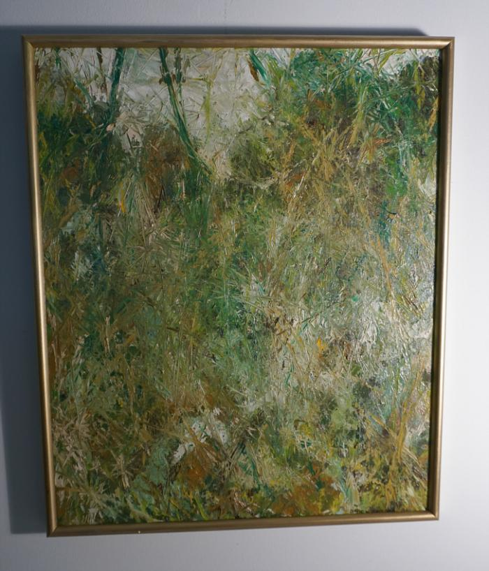 Oil painting of grasses by David Krieger 1960