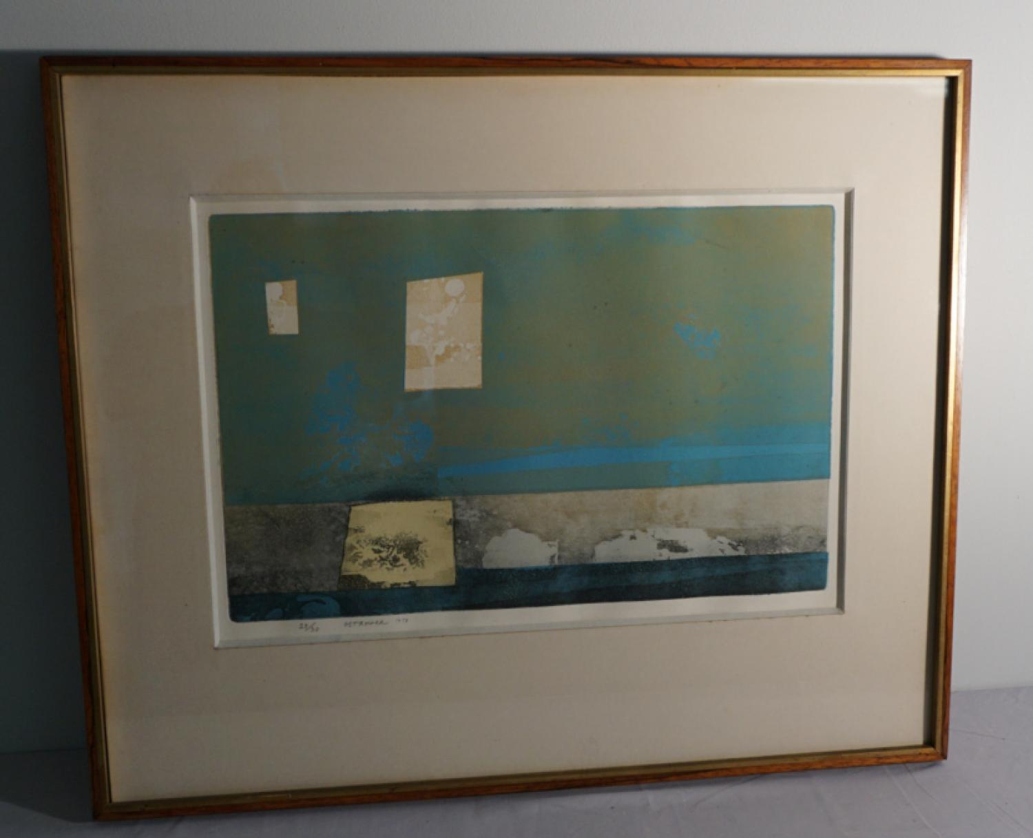 Fayga Ostrower Brazilian abstract lithograph 1958