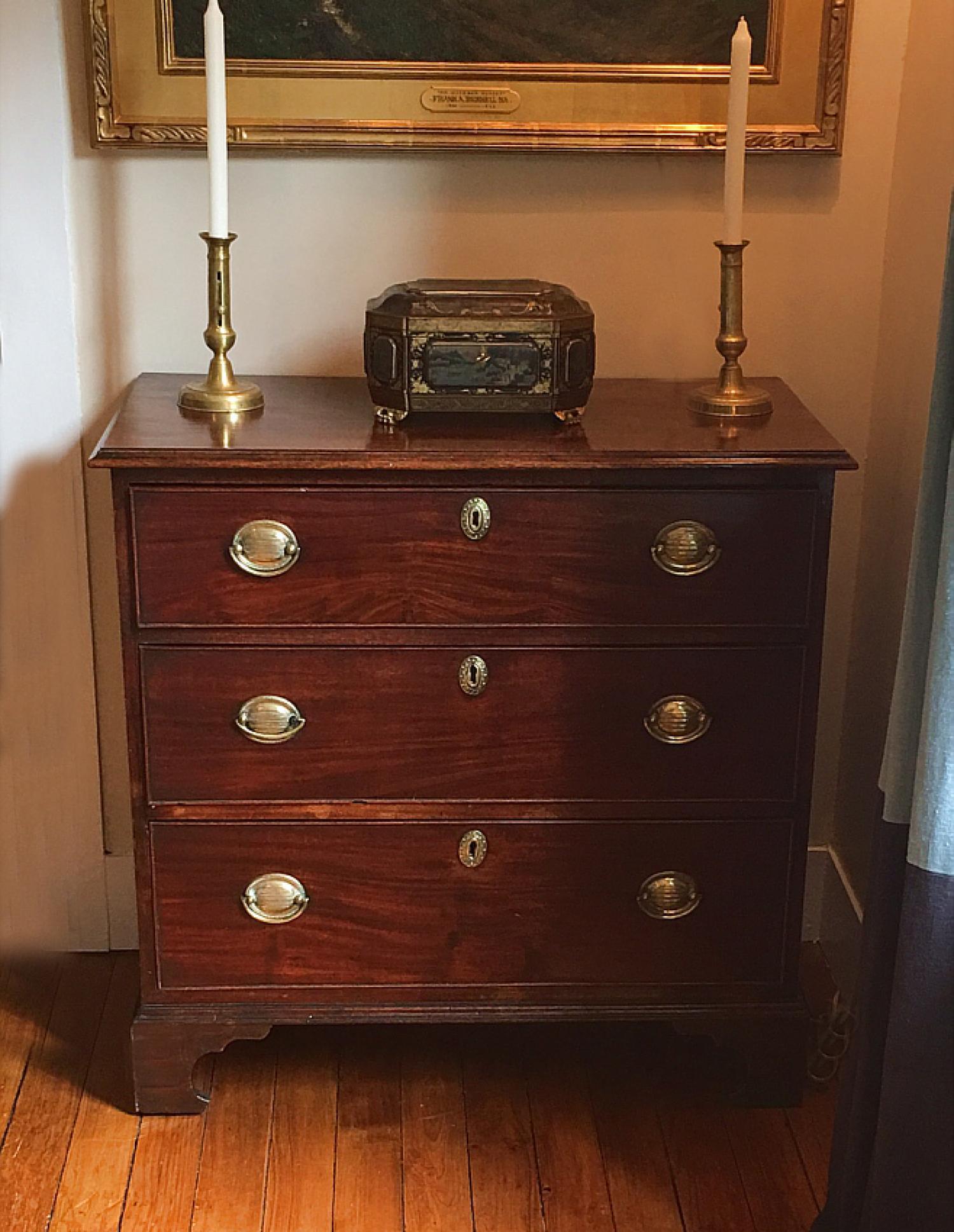 English Georgian three drawer chest c1800