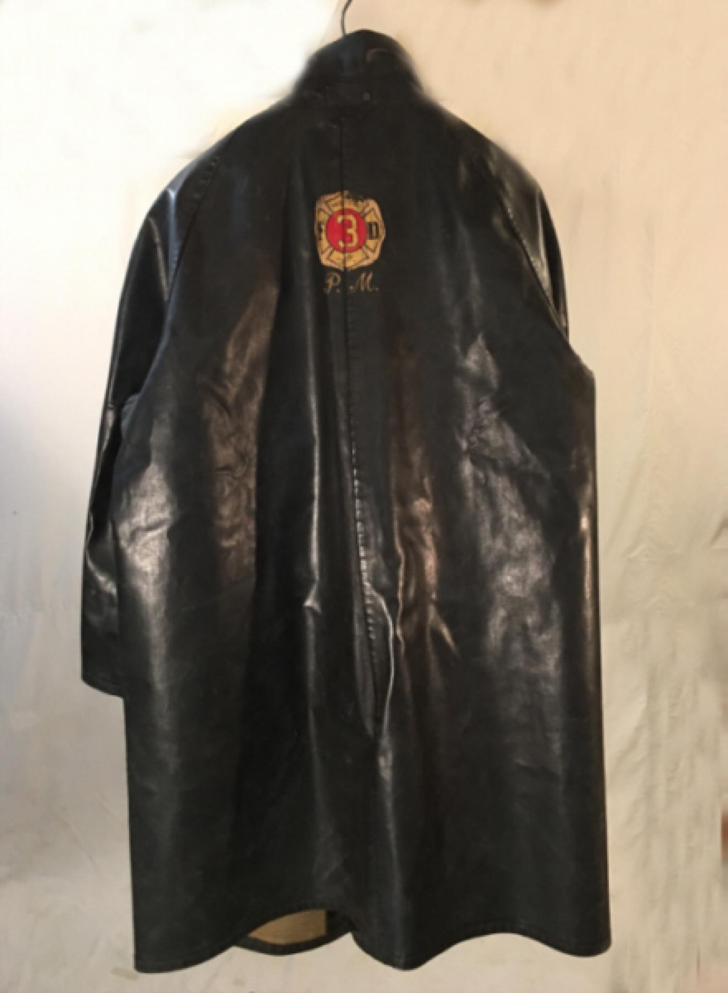 Milford CT Fire Dept leather coat c1940