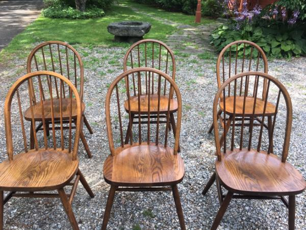 Vintage Boling Oak Kitchen Windsor Chairs
