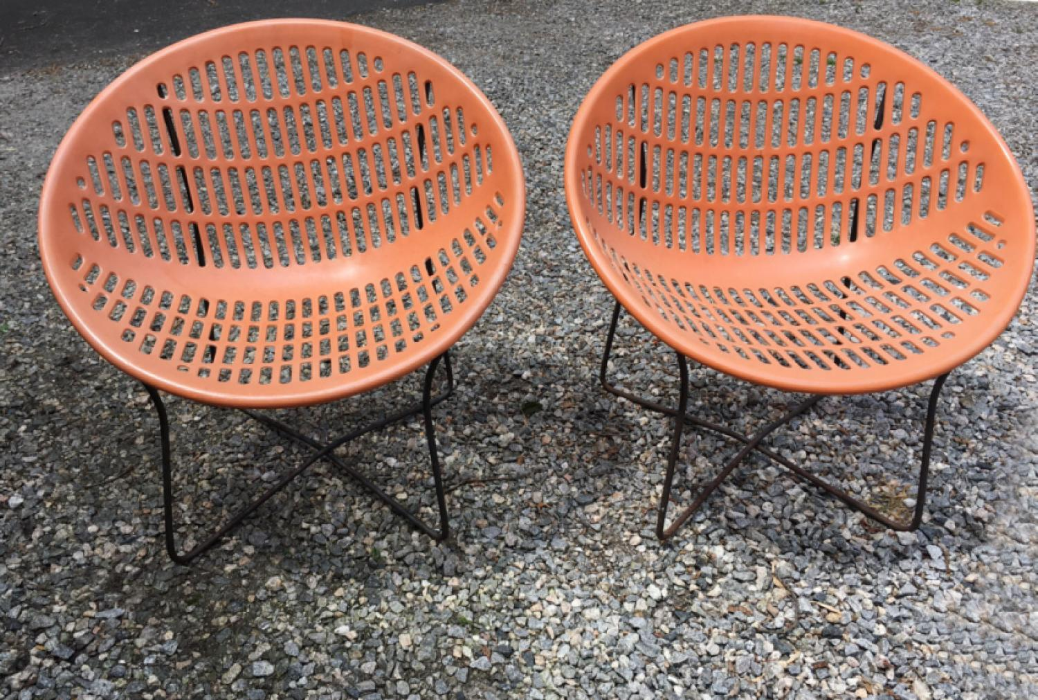 Mid century modern Solair chairs by Fabiano and Panzini
