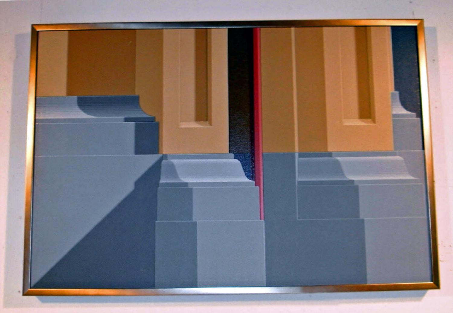 Hugh Kepets abstract architectural painting