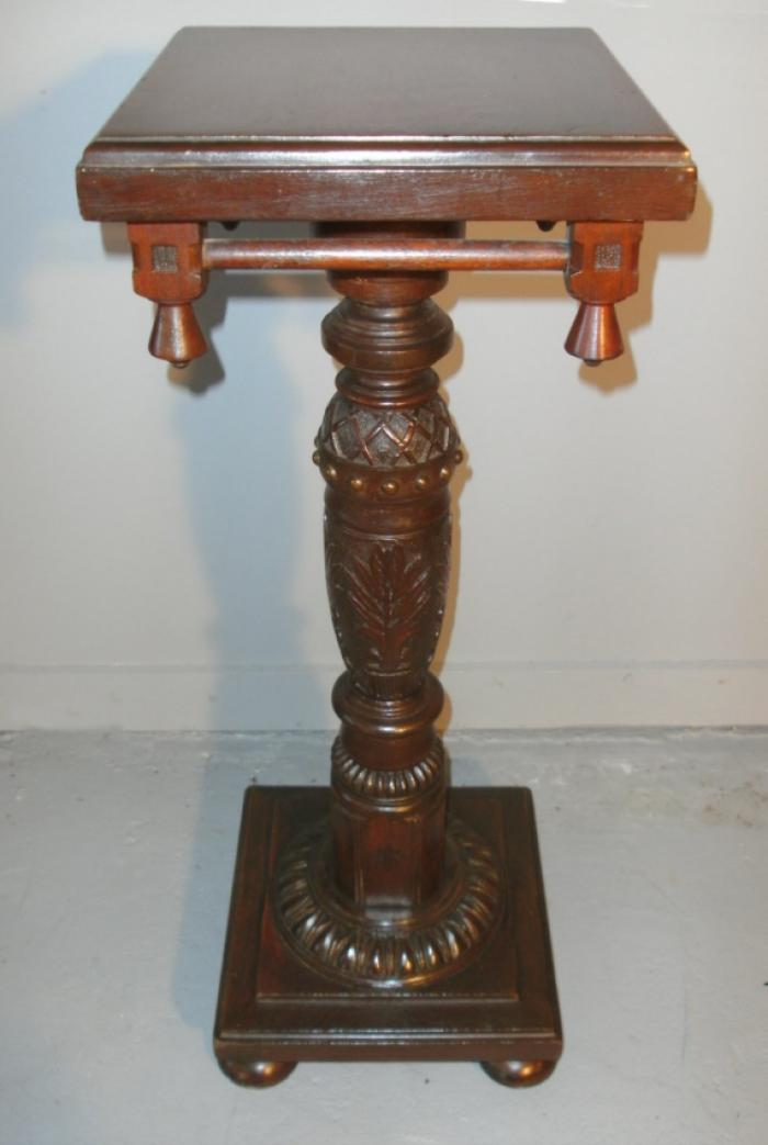 American Aesthetic period carved pedestal c1830