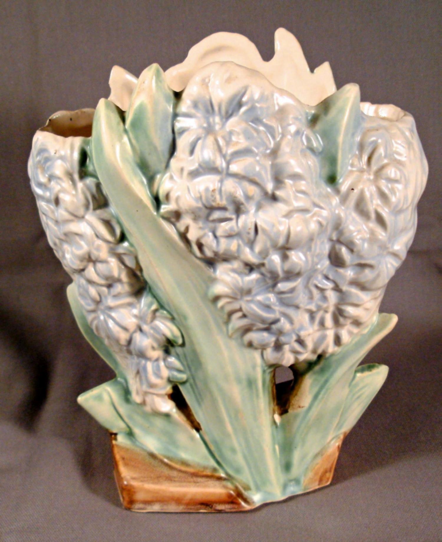 McCoy pottery crocus-motif vase c1920
