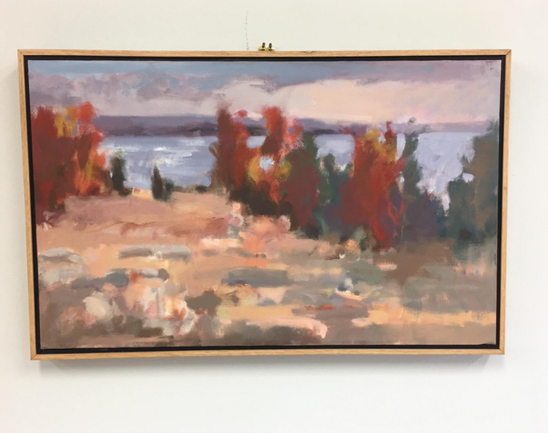 Red Trees impressionist landscape by John Lo Presti