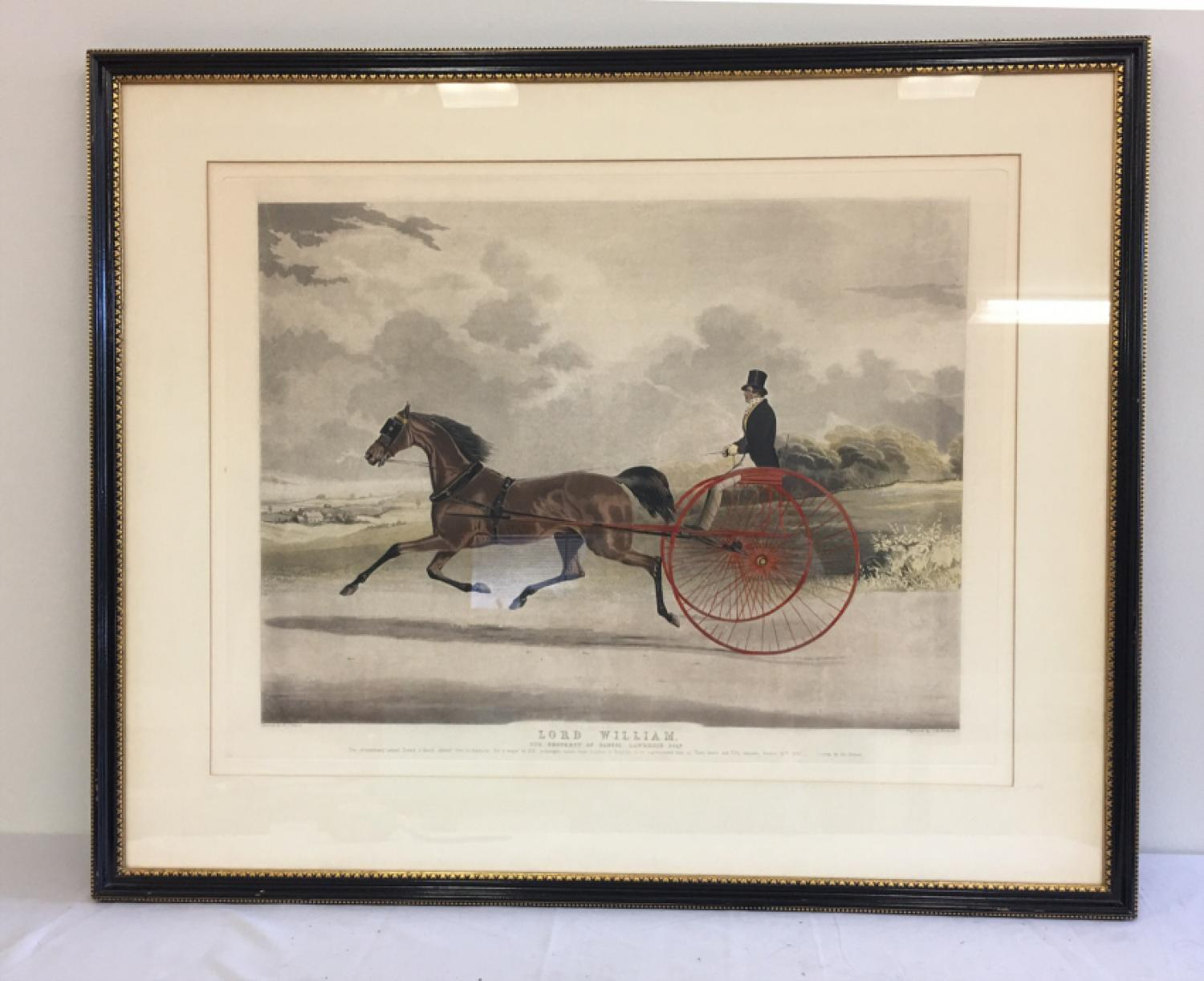 Lord William sulky trotter aquatint c1845