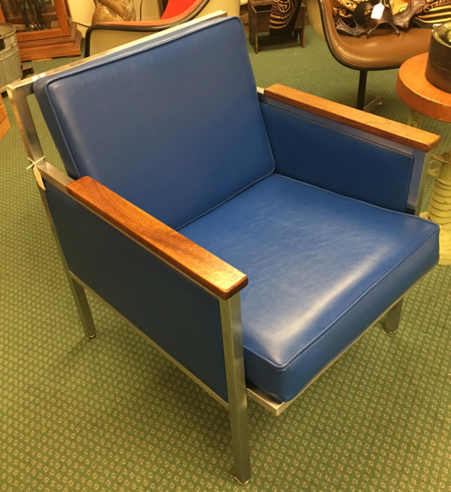 Mid century modern chrome armchair by InterRoyal Corporation