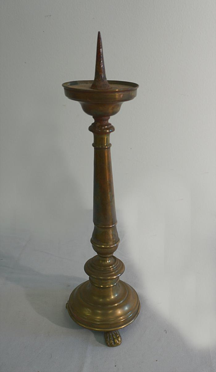 17th to 18th c Dutch or Flemish brass candlestick