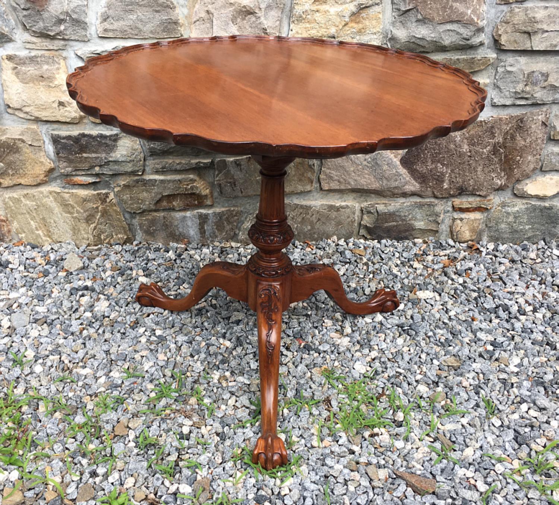 Centennial Chippendale mahogany tea table