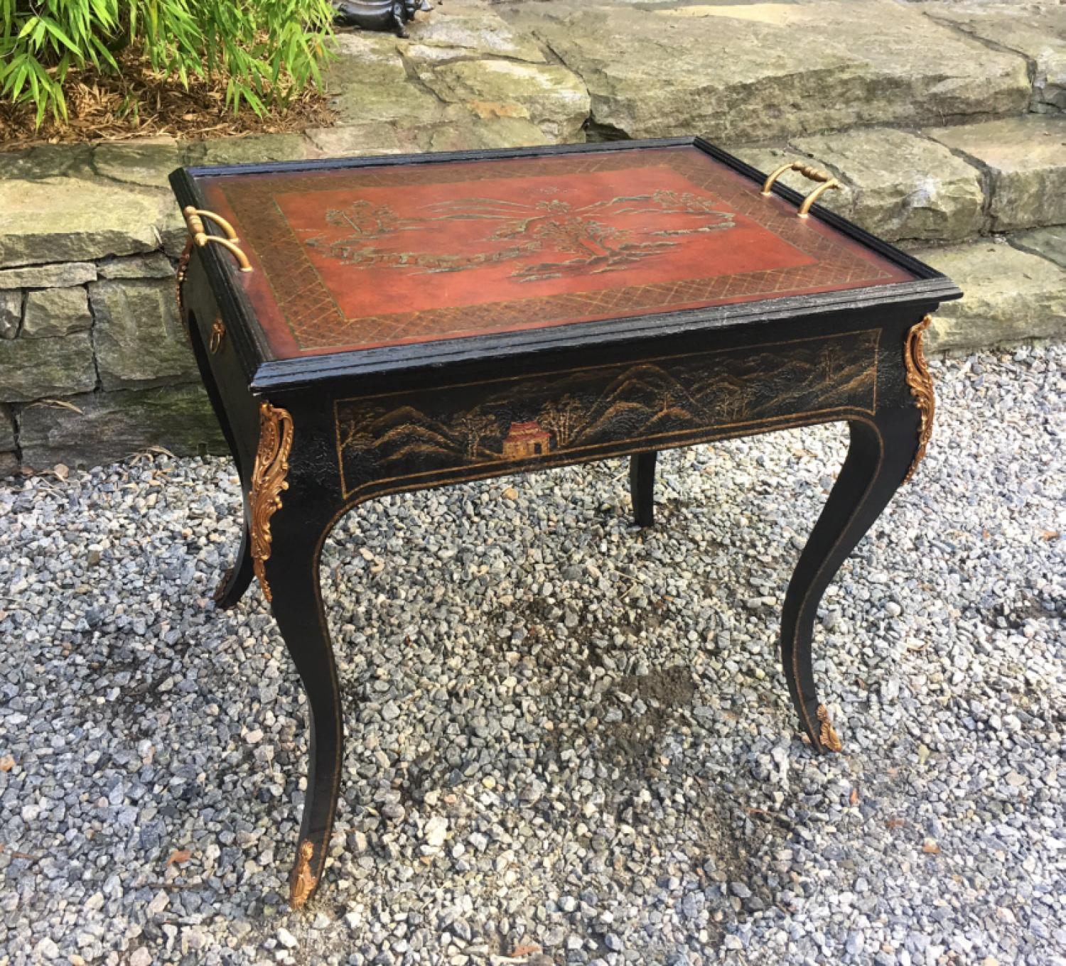 Maitland Smith Chinoiserie games table