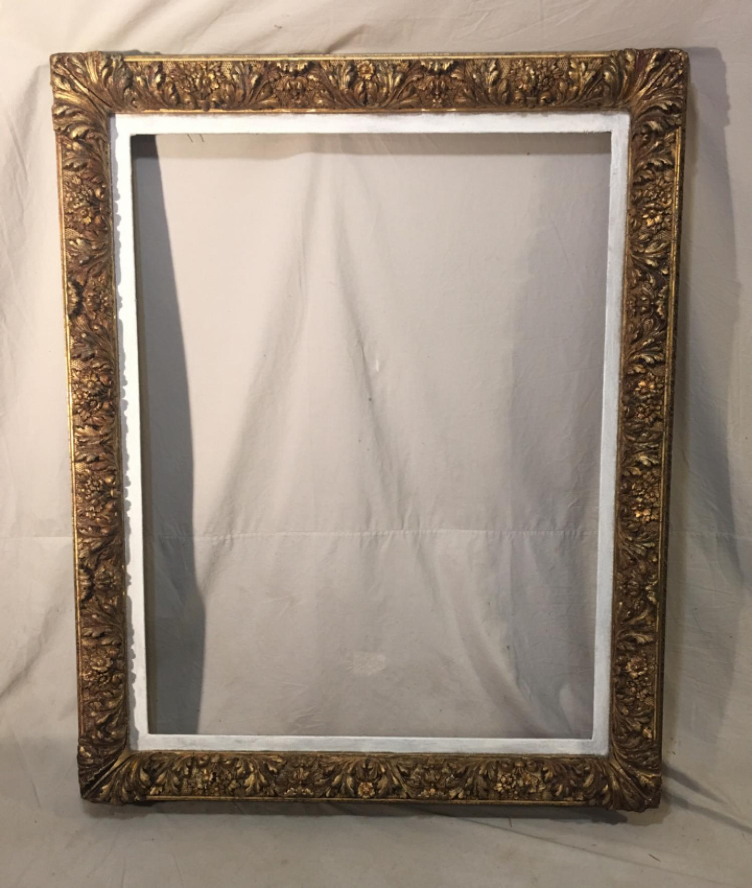 Large antique painting frame in baroque style