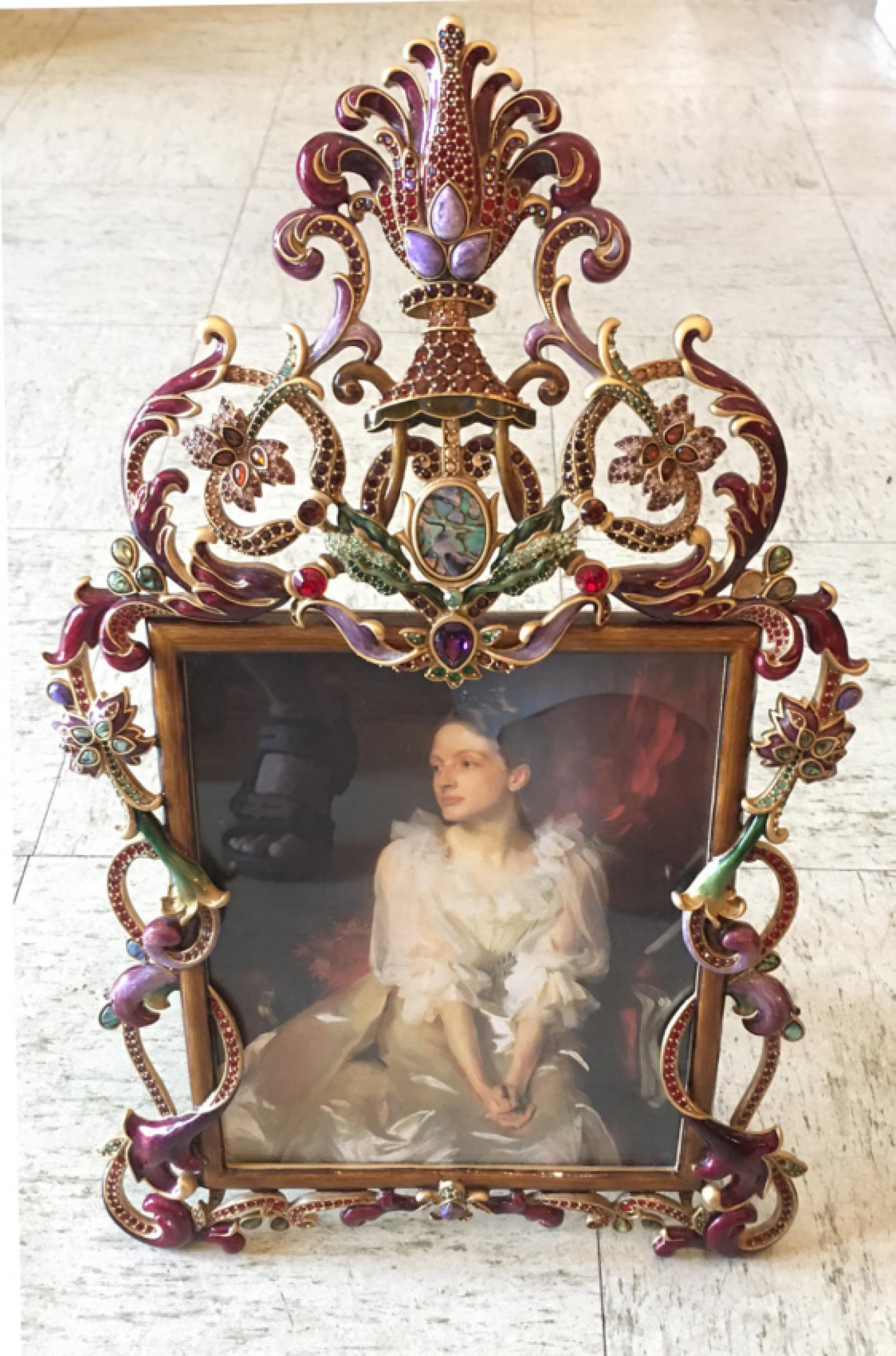 Jay Strongwater jeweled picture frame Limited Edition