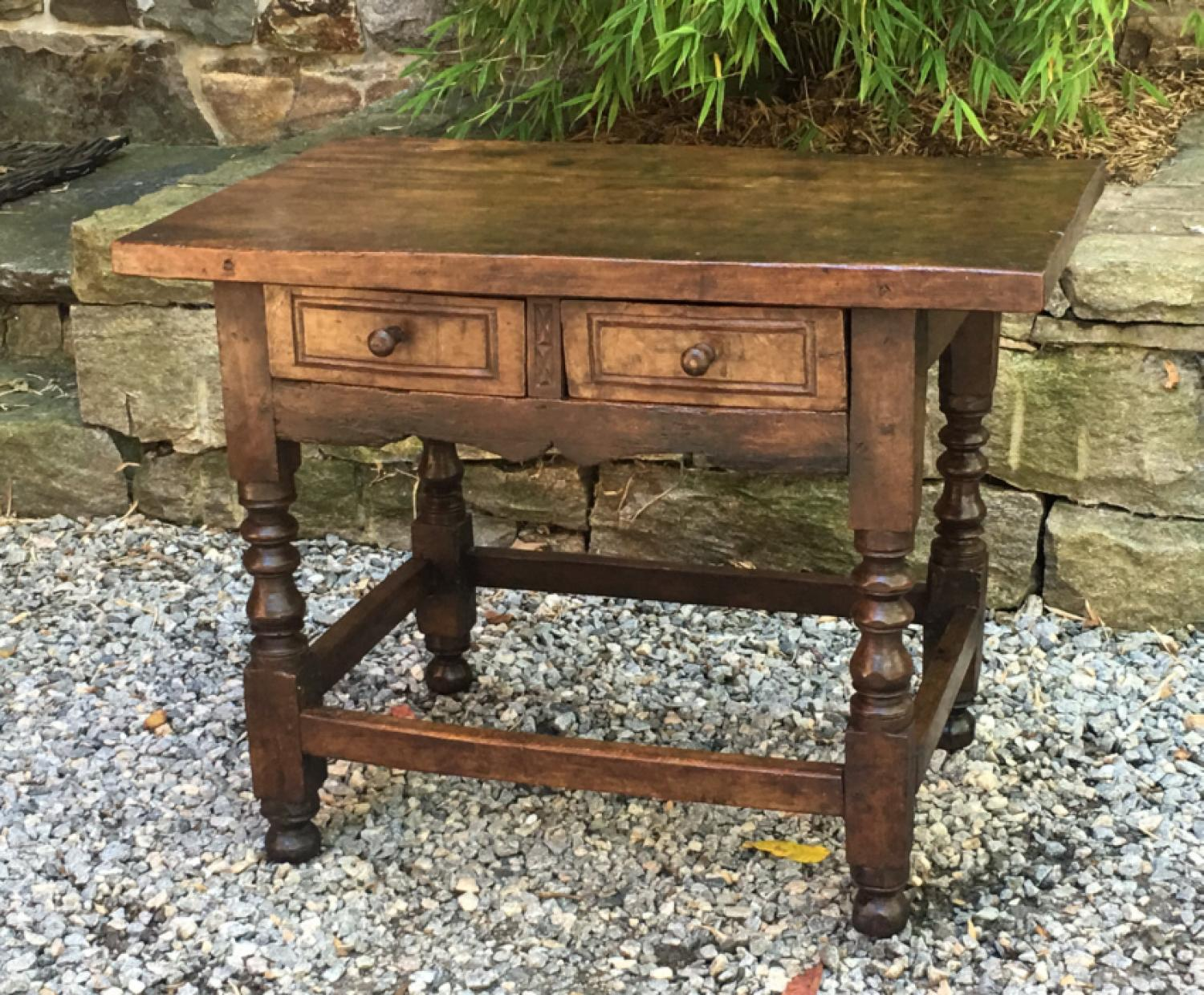 Baroque period walnut work table c1680