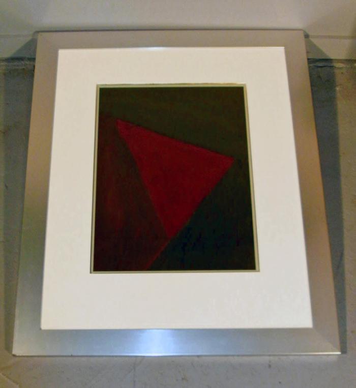 Geometric gouache on paper by Lloyd R Ney