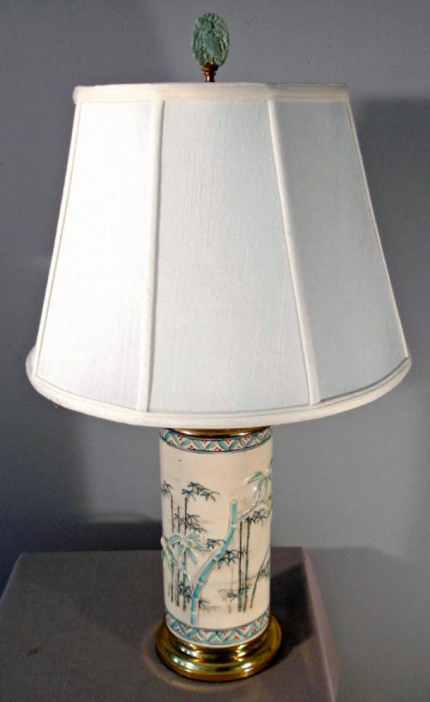 Japanese Meiji period cylinder vase lamp c1870
