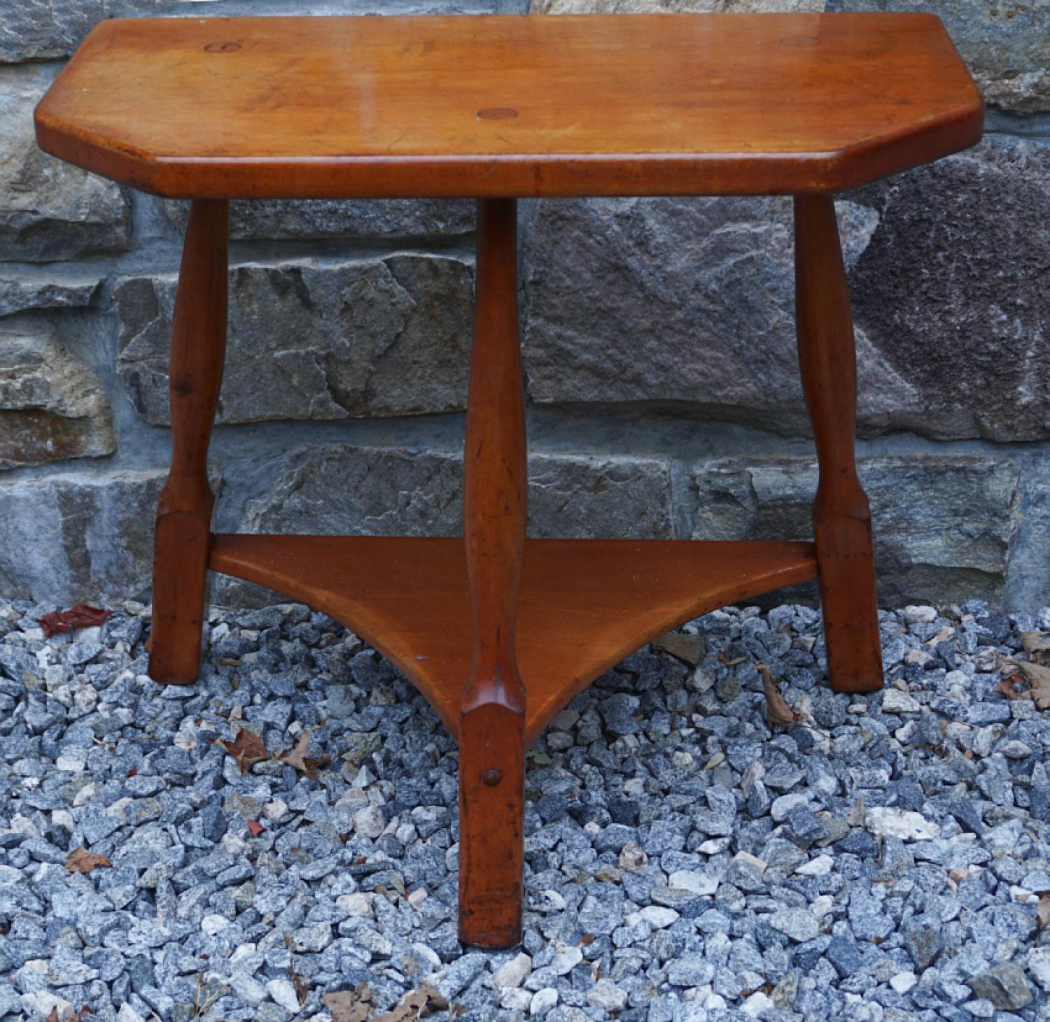 Vintage New England rock maple half table c1940
