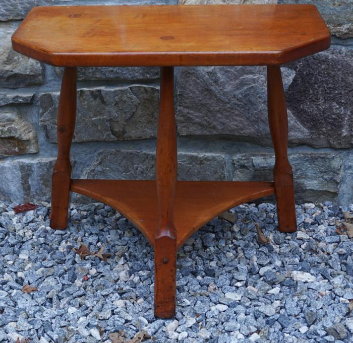 Vintage New England rock maple half table c1940