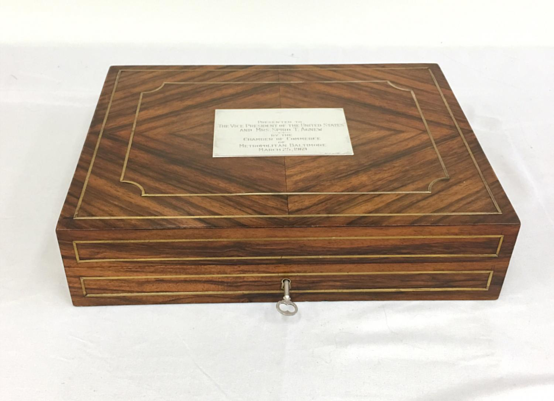 Vice President Spiro T Agnew presentation box